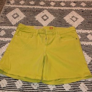 Yellow anthro shorts